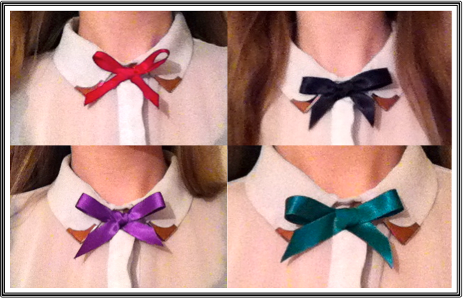 Jewel Ribbon Bow Ties