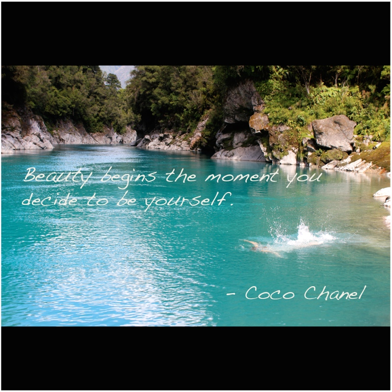 Beauty begins the moment you decide to be yourself coc chanel